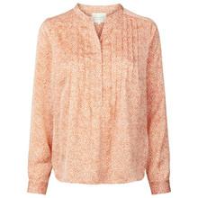 Lollys Laundry Helena skjorte i creme m. orange prikker