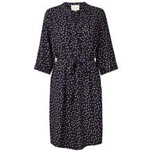 Lollys Laundry Jade kjole i navy m. prikker