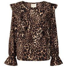 Lollys Laundry Jessie bluse i leopard mønster