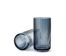 Karakter glas blå Lyngby vase 20 cm