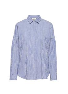 Mads Nørgaard Crinkle Pop Saxima skjorte i blå