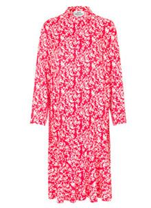 Mads Nørgaard Downy frill Flower Weave kjole i rød