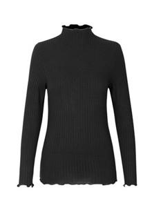 Mads Nørgaard Rib Trutte bluse i sort