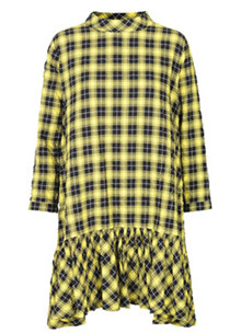 Mads Nørgaard Seersucker Check Dreamella kjole i gul