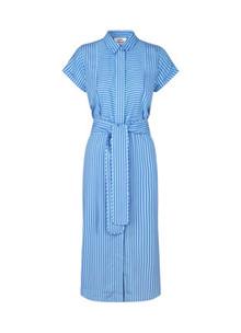 Mads Nørgaard Striped Viscose Daxy kjole i blå