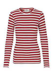 Mads Nørgaard Tuba Stripe bluse i rød stribet