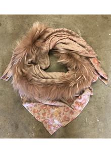 Mala Alisha Katmiss 2062 tørklæde i Taupe/gul