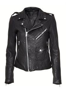 MDK Bubble Biker Jakcet læderjakke i sort