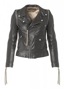 MDK Patti Studs Thin læderjakke i sort
