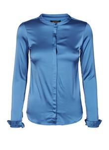 Mos Mosh Mattie Satin skjorte i blå