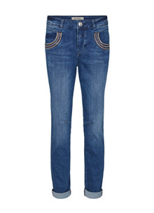 Mos Mosh Naomi Muscat Long Jeans i Blue Denim