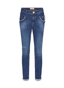 Mos Mosh Nelly Block Jeans i mørke blå