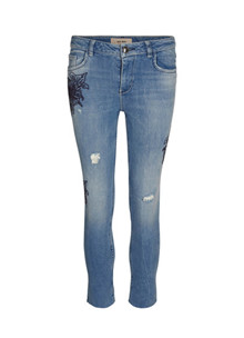 Mos Mosh Sunn Flower jeans i denim
