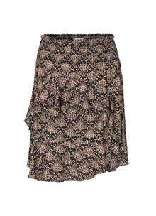 Munthe Amazone nederdel i sort m. beige