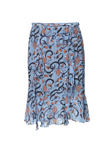 Munthe Astonish nederdel i blå m. mønster