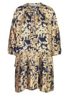 Munthe Valentin kjole i navy og gul