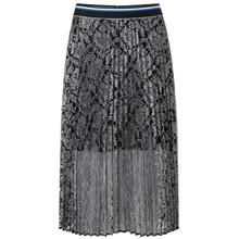 Mads Nørgaard Lulu lace Sharlotta nederdel i sort m. sølv
