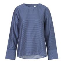 Mads Nørgaard Shirtilla bluse i blå/hvid