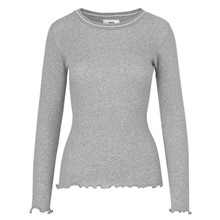 Mads Nørgaard Tuba Sports Frill bluse i grå