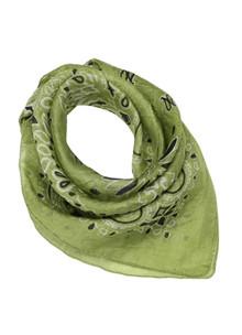 Malene Hocke silke bandana i grøn
