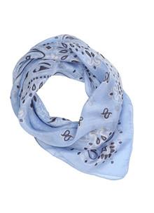 Malene Hocke silke bandana i lys blå
