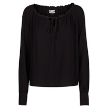 Mos Mosh Chandler blouse i sort