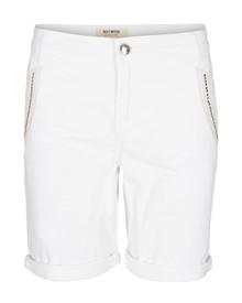 Mos Mosh Etta Shine Shorts i hvid