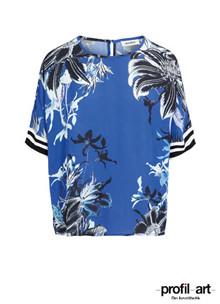 Mos Mosh Palma Fleur t-shirt i blå