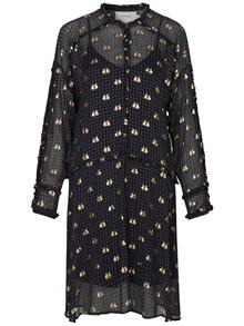 Munthe Vinyl kjole i Indigo Navy