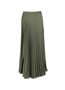 Neo Noir Boni plissé nederdel i grøn