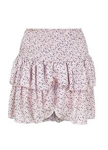 Neo Noir Carin nederdel i rosa m. prikker