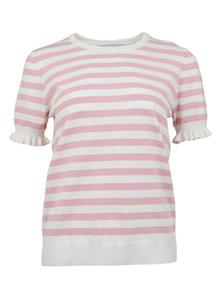 Neo Noir Kira Stripe Knit bluse i rosa