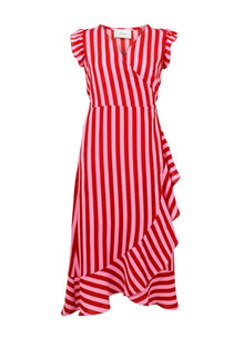 Neo Noir Manda broad stripe kjole i lyserød
