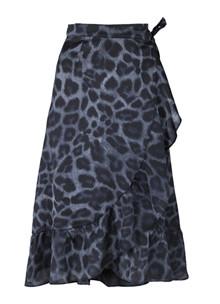 Neo Noir Mika Leo Wrapskirt nederdel i blå