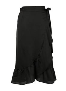 Neo Noir Mika solid nederdel i sort