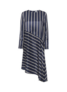 NORR Bobbi kjole i Navy Stripe