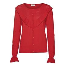 NORR Gisela knit cardigan i rød