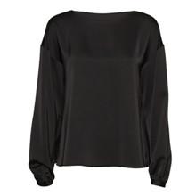 NORR Tracy LS flæse bluse i sort