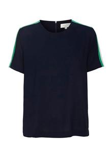 Norr Asta t-shirt med stribe i navy