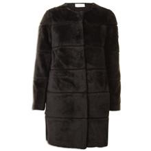 Neo Noir Filippa Faux Fur jakke i sort