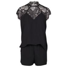 Neo Noir Glory lace jumpsuit i sort