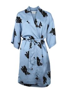 Neo Noir Kelsie Big flower Kimono i lyseblå