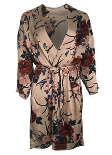 Neo Noir Kelsie Flower kimono i cremefarvet