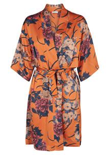 Neo Noir Kelsie Flower kimono i orange