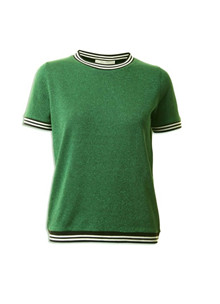 Neo Noir Nova strik T-shirt i grøn