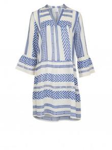 Neo Noir Gunvor Aztec kjole i blå
