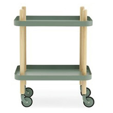 Normann Block rullebord i dusty green