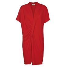 NORR Lake drape dress i rød