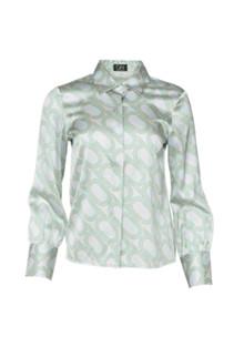 Oh! by Kopenhagen Fur Levison silke skjorte i blå