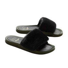 Oh! By Kopenhagen Fur & H2O sandaler i army
